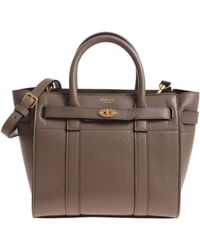 Mulberry - Mud Colour Zipped Bayswater Mini Bag - Lyst