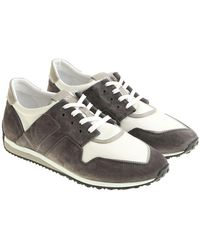 Tod's - Anthracite And White Sneakers - Lyst
