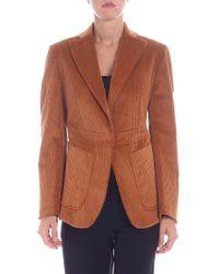 L'Autre Chose - Brown Corduroy Jacket - Lyst