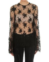 Givenchy - Transparent Lace Blouse - Lyst