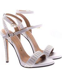 Marc Ellis - White Leather Studded Sandals - Lyst