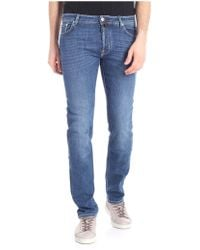 Jacob Cohen - Blue Jeans With Gray Logo - Lyst