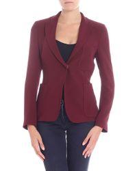 L'Autre Chose - Single-button Wine Red Jacket - Lyst