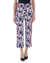 Pinko - Raggirato Trousers With Floral Print - Lyst