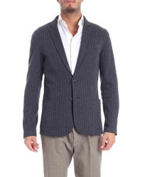 Trussardi - Two-button Jacket In Shades Of Blue - Lyst