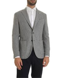 L.B.M. 1911 - Houndstooth Jacket In Gray - Lyst