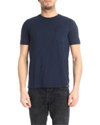 Drumohr - Blue Cotton T-shirt - Lyst