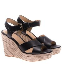 Michael Kors - Black Kady Wedge Sandals - Lyst