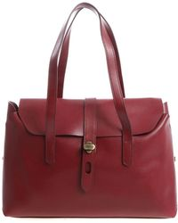 Hogan - Burgundy Shoulder Bag With Flap - Lyst
