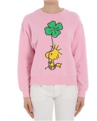 Essentiel - Pink Sweatshirt (peanuts Collaboration) - Lyst