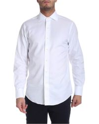 Brooks Brothers - Worked Fabric White Shirt - Lyst