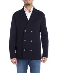 Lardini - Blue Double-breasted Cardigan - Lyst