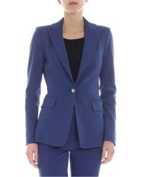 Pinko - Signum 6 Jacket In Blue Milano Fabric - Lyst