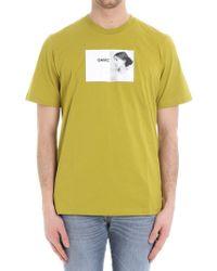 OAMC - Green Portrait Printed T-shirt - Lyst