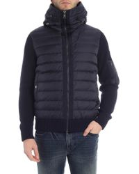 Moncler Blue Hooded Cardigan