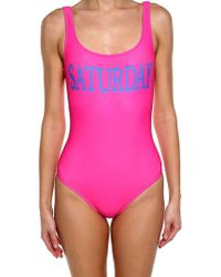 Alberta Ferretti - Fuchsia Lycra Saturday Swimsuit - Lyst