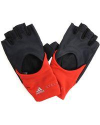 "adidas By Stella McCartney - Black ""tranning"" Gloves With Logo - Lyst"