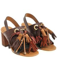 See By Chloé - Sandals With Fringes - Lyst