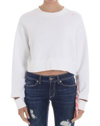 Saucony - White Crop Sweatshirt - Lyst