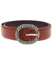 Orciani - Soft Leather Belt With Buckle - Lyst