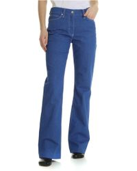Calvin Klein - Blue Jeans With Contrasting Stitching - Lyst