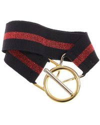 Pinko - Blue And Red Peverina Belt - Lyst