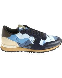 Valentino - Blue Rockrunner Camouflage Trainers - Lyst