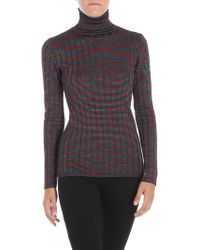 M Missoni - Multicolour Turtleneck With Relief Pattern - Lyst