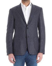 Z Zegna - Blue And Black Patterned Jacket - Lyst