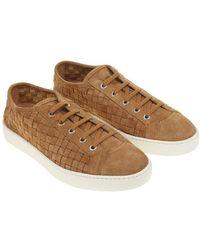 Santoni - Suede Sneakers - Lyst