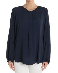 Her Shirt - Blue Rita Roundneck Blouse - Lyst