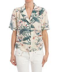 da2cdac5 Stella Jean Hawaiian Button-up Shirt in Blue - Lyst