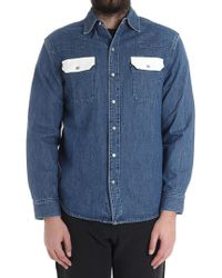 Calvin Klein - Blue Denim Shirt - Lyst