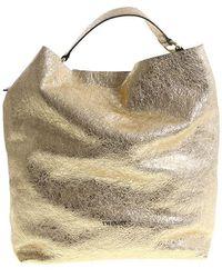 Twin Set - Golden Shopping Bag - Lyst