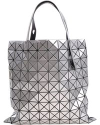 Bao Bao Issey Miyake - Soft Silvered Tote With Square Motifs And Triangles - Lyst