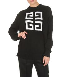 Givenchy - Black Overfit Pullover With Logo - Lyst