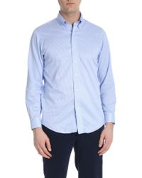Brooks Brothers - Light-blue And White Button Down Shirt - Lyst