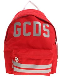 Gcds - Logo Printed Red Backpack - Lyst