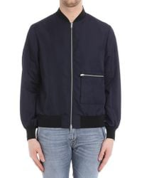 OAMC - Blue Jacket With Front Pocket - Lyst
