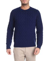 Brooks Brothers - Blue Pullover With Embossed Pattern - Lyst