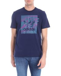 "adidas - T-shirt ""Tennis BB"" blu - Lyst"