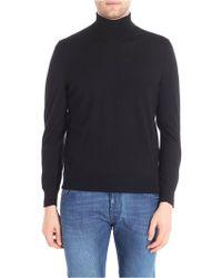 Z Zegna - Black Turtleneck Pullover - Lyst