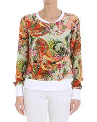 Piccione.piccione - Silk Sweatshirt - Lyst