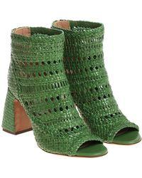L'Autre Chose - Green Twine Ankle Boots - Lyst