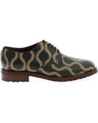 ca919474727b Lyst - Burberry Prorsum Leopard Printed Ponyskin Lace-up Shoes in ...