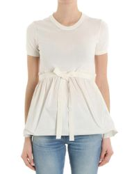 Moncler - White Flared Top - Lyst