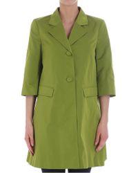 Twin Set - Green Overcoat - Lyst
