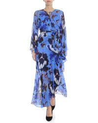 Diane von Furstenberg - Abito bluette stampa floreale - Lyst