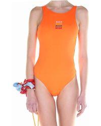 MSGM - Orange Swimsuit - Lyst