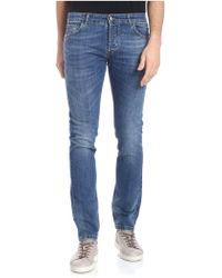 Entre Amis - Blue 5 Pockets Jeans - Lyst